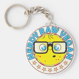 Raw Vegan Nerdy Basic Round Button Key Ring