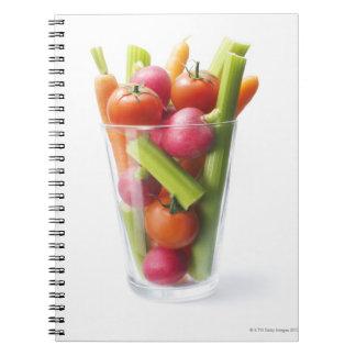 Raw vegetable shake notebooks