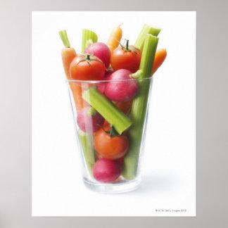 Raw vegetable shake poster