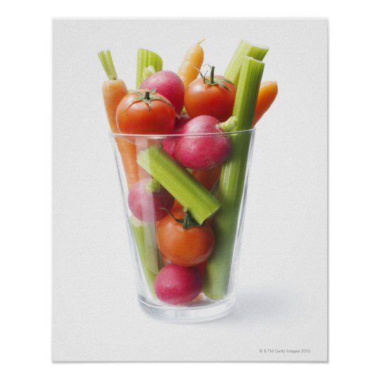 Raw vegetable shake poster