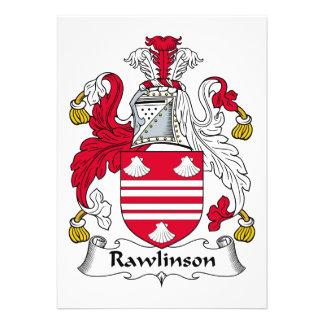 Rawlinson Family Crest Card