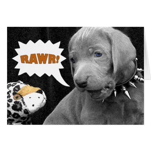 RAWR GREETING CARDS