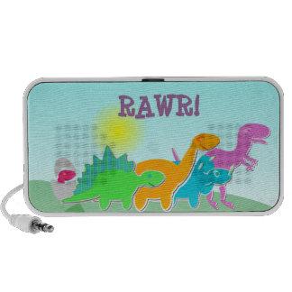 Rawr! Cartoon Dinosaurs Mini Travel Speaker