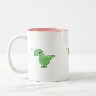 rawr coffee cup Two-Tone mug