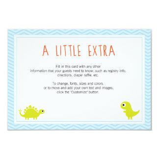 Rawr! Dino Baby Shower Insert Cards 9 Cm X 13 Cm Invitation Card