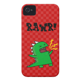 RAWR Dino - customizable! (small) iPhone 4 Cover