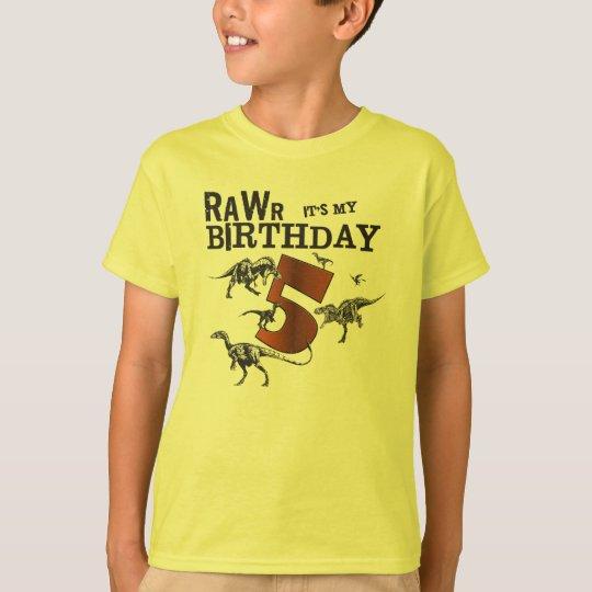 Rawr Dinosaur Birthday Shirt