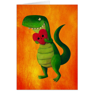 RAWR Dinosaur Love Card