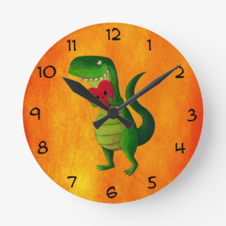 RAWR Dinosaur Love Clocks