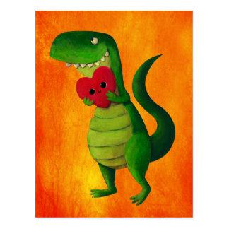RAWR Dinosaur Love Postcard