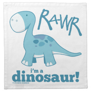 RAWR I m A Dinosaur Diplodocus Napkin