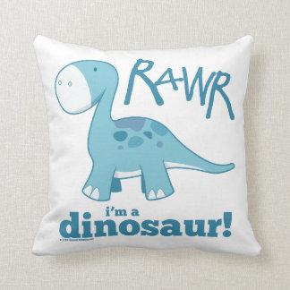 RAWR I m a Dinosaur Throw Pillow