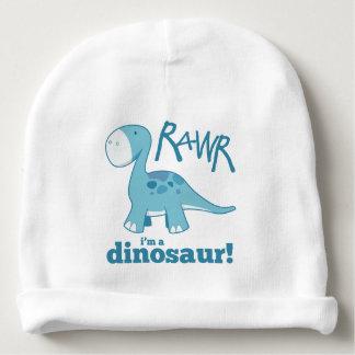 RAWR I'm A Dinosaur Cute Blue Diplodocus Baby Beanie