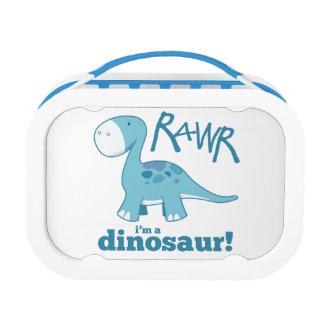 RAWR I'm A Dinosaur Cute Blue Diplodocus Lunchbox