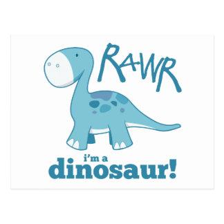 RAWR I'm a Dinosaur Diplodocus Postcards
