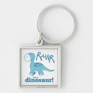 RAWR I'm a Dinosaur Diplodocus Premium Keychain
