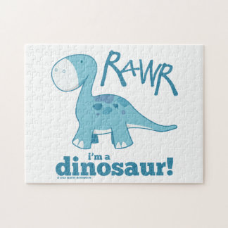 RAWR I'm a Dinosaur Diplodocus Puzzle