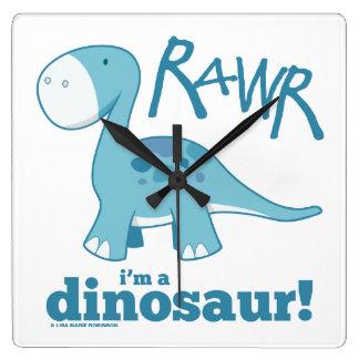 RAWR I'm a Dinosaur Wall Clock