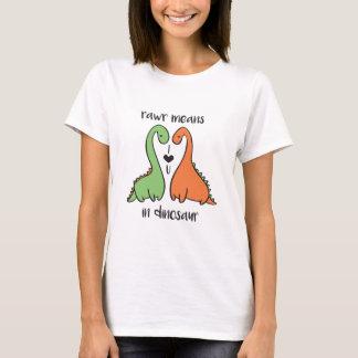 Rawr In Dinosaur T-Shirt