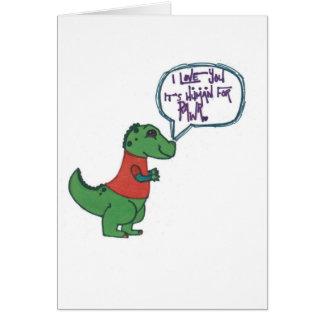 Rawr in Human Greeting Card
