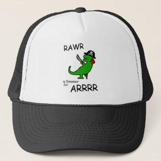 RAWR is Dinosaur for ARRR (Pirate Dinosaur) Trucker Hat