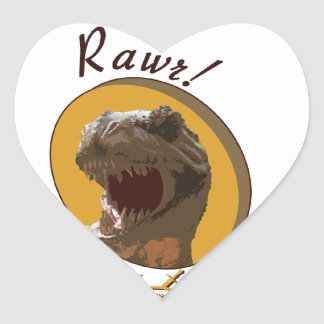 Rawr it means I love you in dinosaur Sticker