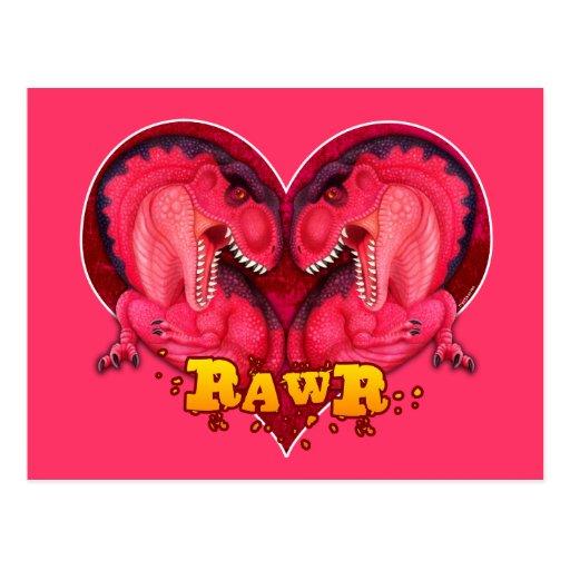 Rawr Love-a-saurus Postcards
