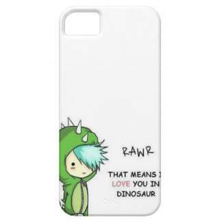 RAWR means i love you in dinosaur Barely There iPhone 5 Case