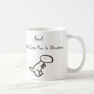 RAWR! Means I Love You In Dinosaur Basic White Mug