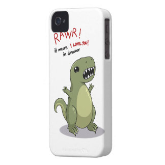 Rawr means I love you in dinosaur iPhone 4 Case-Mate Cases