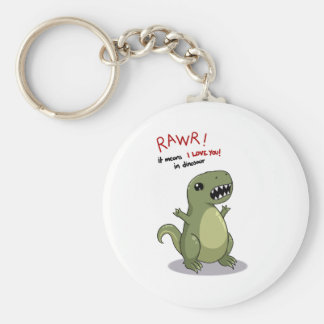 Rawr Means I love you in Dinosaur Key Ring