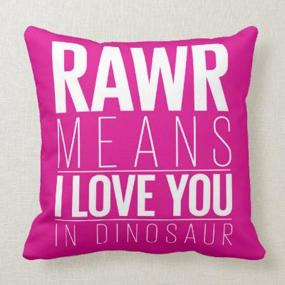 adb539489 Rawr Means I love You In Dinosaur Pillow for Kids | Zazzle.co.uk