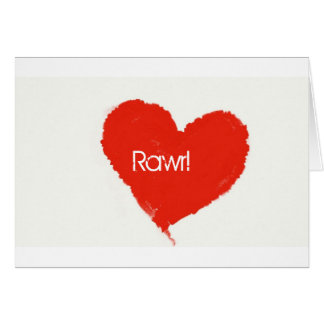 Rawr! means ily in dinosaur greeting card