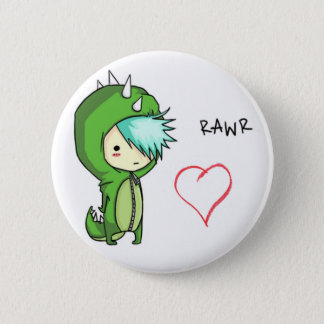 Rawr means love 6 cm round badge