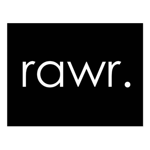 rawr postcards