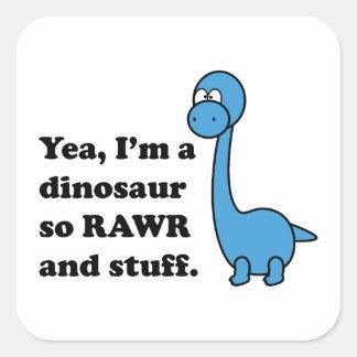 Rawr Square Sticker