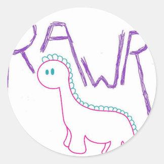 Rawr Round Sticker