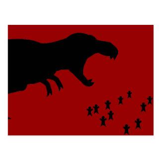 Rawr! T-Rex Post Card