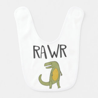 Rawr Trex Baby Bib
