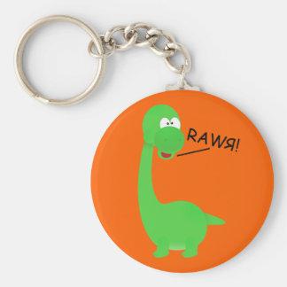 Rawrosaur Dinosaur Basic Round Button Key Ring