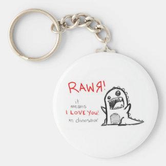 rawrr basic round button key ring