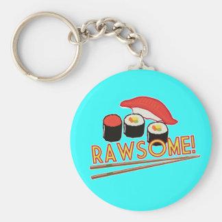 Rawsome! Basic Round Button Key Ring