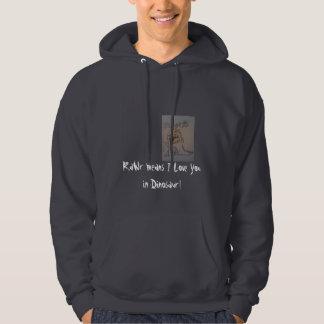 rawwrr, RaWr means I Love You in Dinosaur! Hooded Sweatshirts
