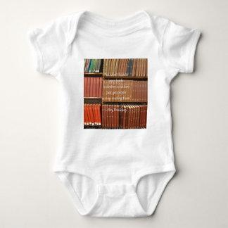 Ray Bradbury Quotation about Books Baby Bodysuit