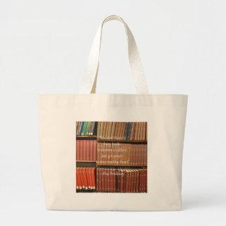 Ray Bradbury Quotation about Books Jumbo Tote Bag