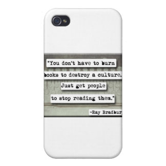 Ray Bradbury quote on books Case For iPhone 4