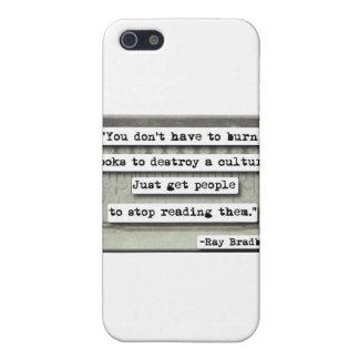 Ray Bradbury quote on books Cases For iPhone 5