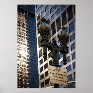 Ray Bradbury Square, Los Angeles Poster