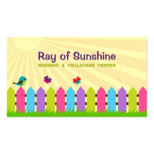 Ray of Sunshine Nursery / Childcare Business Card