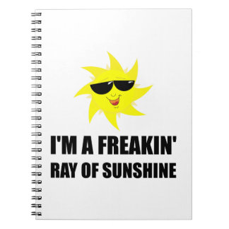 Ray Of Sunshine Spiral Note Book